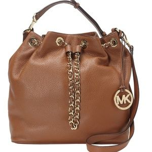 Michael Kors Frankie Leather Convt. Shoulder Bag